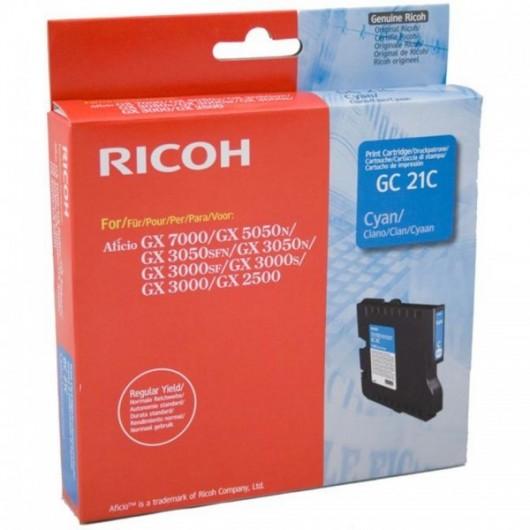 Ricoh 405533 / GC-21C - Cyan - Cartouche Ricoh
