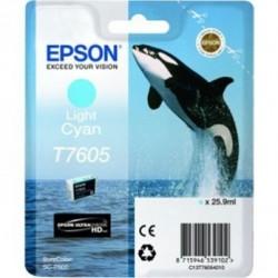 Epson T7605 - Orque - Cyan clair - Cartouche d'encre Epson
