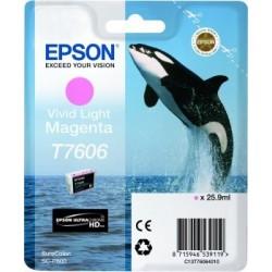 Epson T7606 - Orque - Magenta clair - Cartouche d'encre Epson