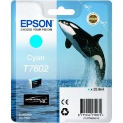 Epson T7602 - Orque - Cyan - Cartouche d'encre Epson
