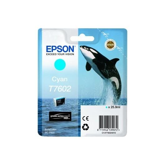 Epson T7602 - Orque - Cyan -Cartouche d'encre Epson
