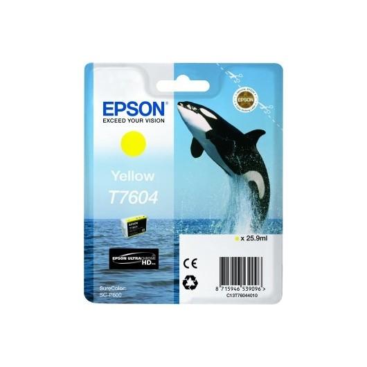 Epson T7604 - Orque - Jaune - Cartouche d'encre Epson