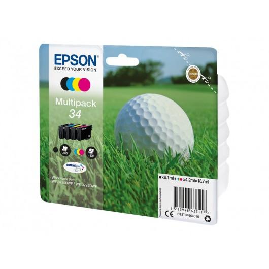 Epson 34 - epons Balle de Golf - Pack de 4 cartouches jet d'encre Epson