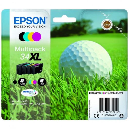 Epson 34XL - Epson Balle de Golf - Pack de 4 cartouches jet d'encre Epson