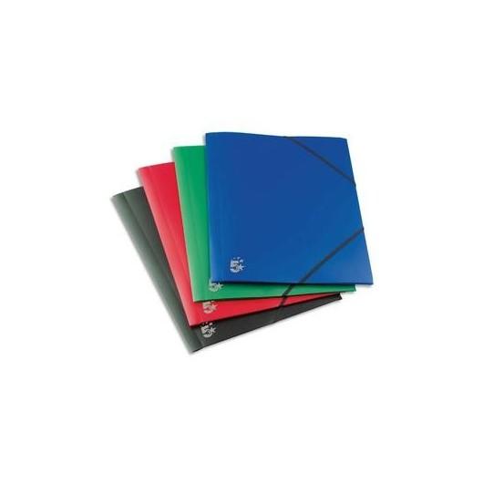 5 ETOILES Chemise 3 rabats et élastique en polypropylène 4/10e coloris assortis