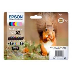 Epson T379x - Epson 378XL - Ecureuil - Noir / Couleurs - Pack de 6 Cartouches d'encre Epson