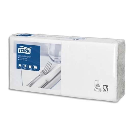 Paquet de 200 serviettes blanches