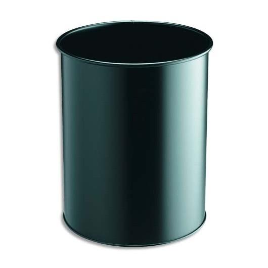 Corbeille a Papiers confort Metal 15 litres noir Diam