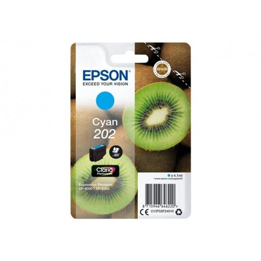 Epson 202 - Epson Kiwi - Cyan - Cartouche d'encre Epson