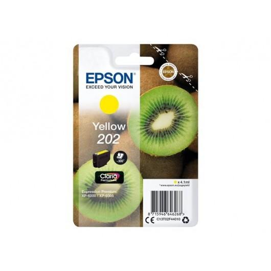 Epson 202 - Epson Kiwi - Noir Photo - Cartouche d'encre Epson