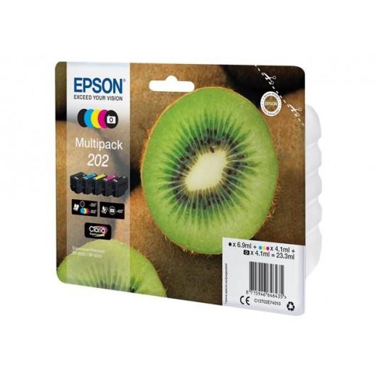 Epson 202 - Epson Kiwi - Pack de 5 - Cartouche d'encre Epson