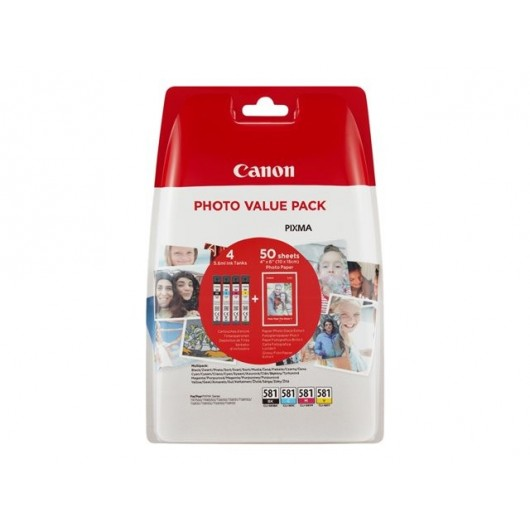 Canon CLI-581- BK/C/M/Y PHOTO - Cartouche Canon