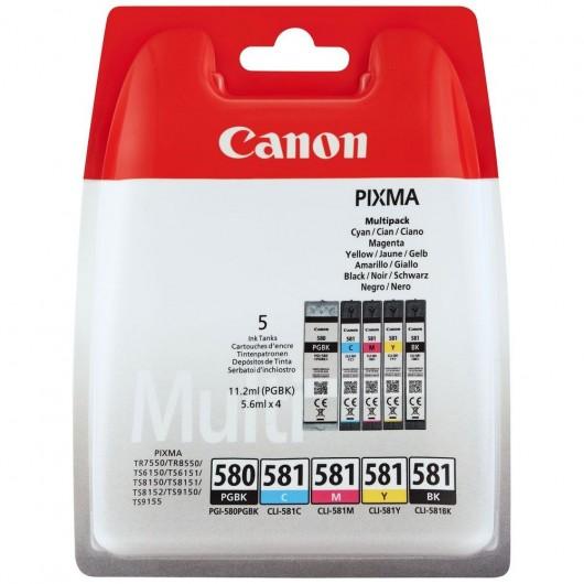 Canon PGI-580/CLI-581 BK/C/M/Y - Cartouche Canon