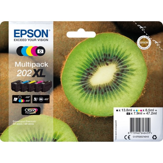 Epson 202XL - Epson Kiwi - Pack de 5 - Cartouche d'encre Epson
