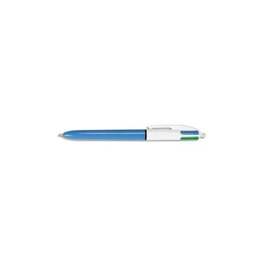Stylo à bille rechargeable pointe moyenne rétractable 4 couleurs d''encre corps plastique 4 COULEURS