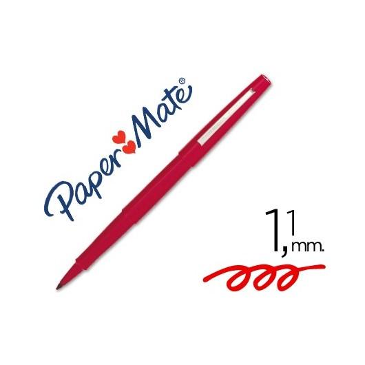 Stylo feutre pointe en nylon largeur de trait 0.4 mm encre rouge NYLON