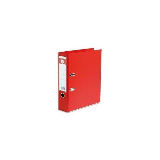 Classeur à levier en polypropylène extérieur/intérieur papier. Dos 8cm. Coloris rouge