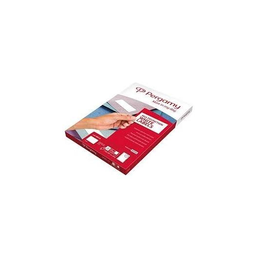 PERGAMY Boite 100 étiquettes 210x297mm multi-usage en planche A4. Coins carrés