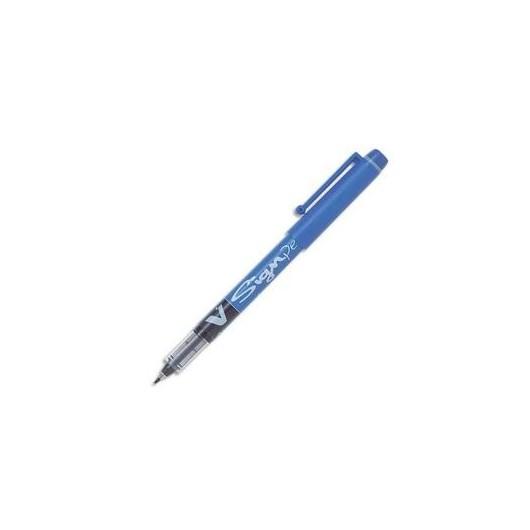 PILOT Stylo feutre pointe en nylon largeur de trait 0,6 mm encre liquide bleue V-SIGN PEN