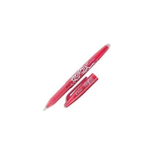 PILOT Stylo à bille encre gel qui s'efface à l'aide de la gomme en bout de stylo FRIXION coloris rouge