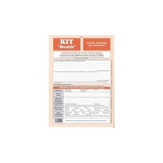 Formulaire français 'Kit Meublé non saisonnier'