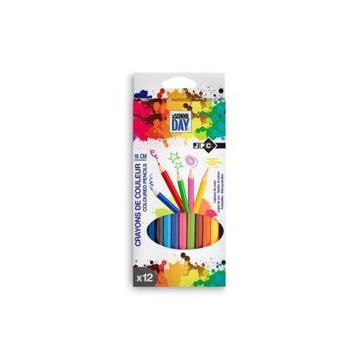 Pochette de 12 crayons de couleur assortie