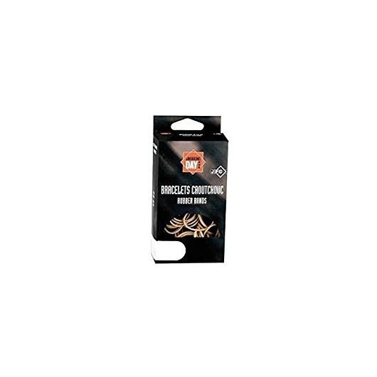 Boîte distributrice de 100g d'élastiques en caoutchouc blond 150x1,8mm