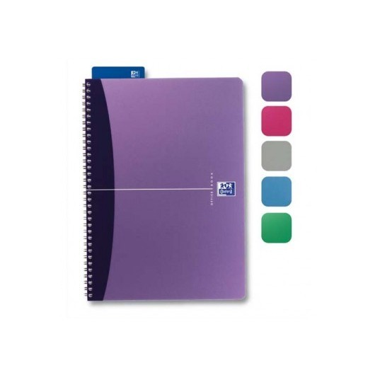 OXFORD Cahier spiralé ESSENTIAL 14,8x21 180 pages 5x5. Couverture carte souple assortie