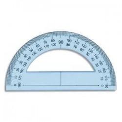 Rapporteur 180° 12 cm en plastique incassable