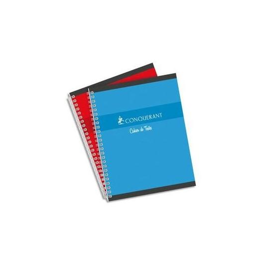 Cahier de texte spiralé 148 pages Seyès 17x22. Couverture Papier 70g