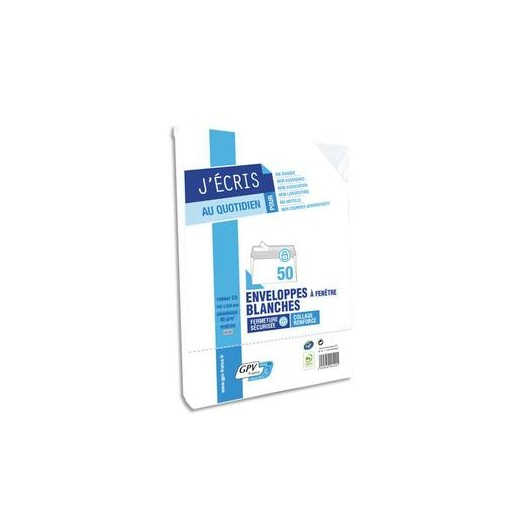 Paquet de 50 enveloppes auto-adhésive 80 grammes format 110x220 mm