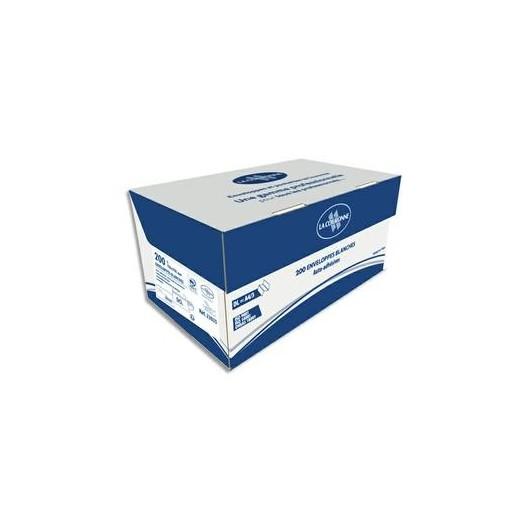 boîte de 200 enveloppes blanches auto-adhésives 90g format 110x220mm DL
