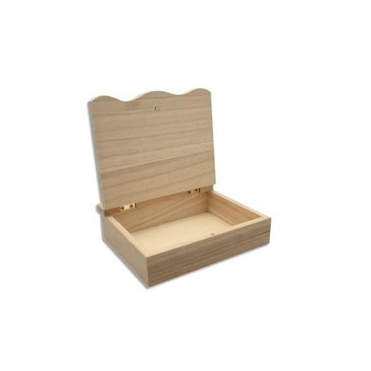 Boîte en bois à décorer format 150 x 150 x 40 mm