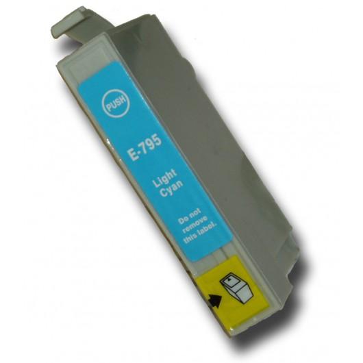Epson T0795 - Chouette - Cyan Clair - Cartouche Compatible Epson