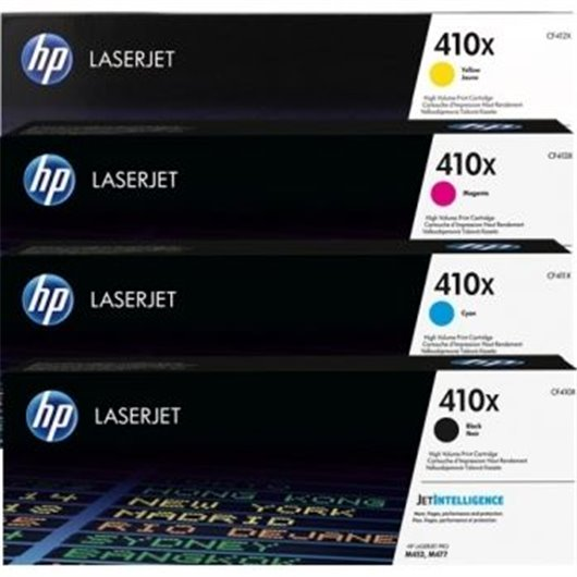 HP 410X - HP CF41xX - Pack de 4 Toner XL HP