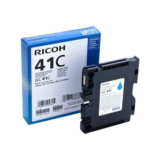 Ricoh GC 41C- Low Yield - Cyan- Cartouche d'encre Ricoh