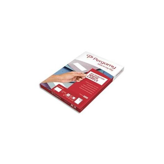 PERGAMY Boite 2400 étiquettes 70x35mm multi-usage en planche A4. Coins carrés
