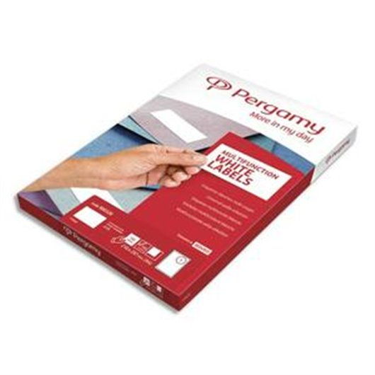 PERGAMY Boite 1000 étiquettes 105x57mm multi-usage en planche A4. Coins carrés