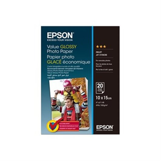 Epson Value Glossy Photo Paper- Papier photo Glacé 10x15 cm Epson