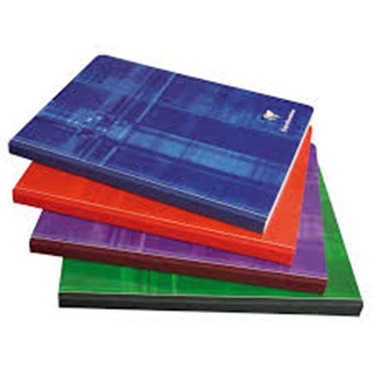 CLAIREFONTAINE Cahier reliure brochure 17x22 cm 192 pages grands carreaux seyès  papier 90g