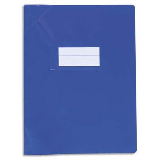 Protège-cahier 24x32cm Strong Line opaque 15/100° + renforcés (30/100°). Coloris bleu