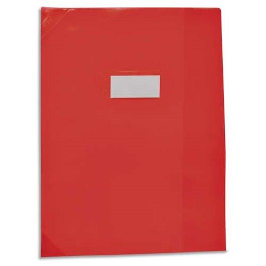 Protège-cahier School Life 17x22 PVC opaque 14/100°. coins + porte-étiquette. 4 coloris assortis