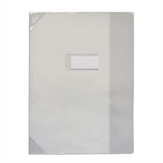 Protège-cahier 24x32cm Strong Line cristal 15/100° + renforcés (30/100°). Coloris assortis