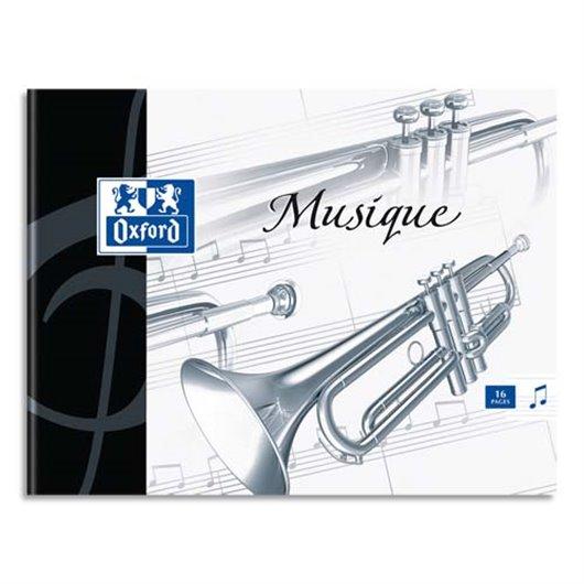 Cahier de musique 24 pages Seyès+24 pages portées 17x22. Couverture carte