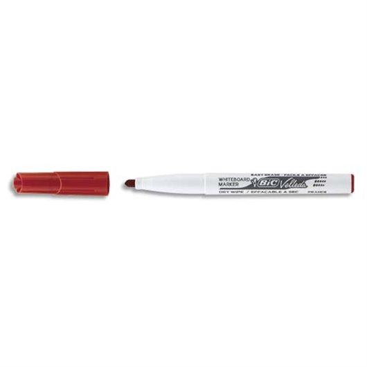 Feutre effaçable à sec pour tableaux blancs pointe ogive encre cétone rouge