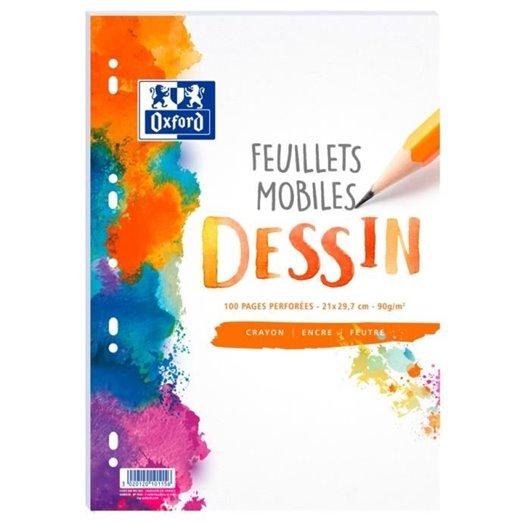 Feuillet mobile SCHOOL 100 pages perforées A4 (sous-film)