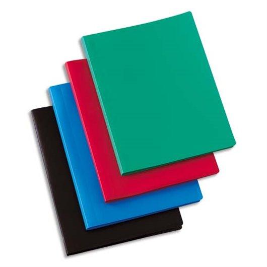Protège-documents en polypropylène 80 vues coloris assortis. couverture 3/10e. pochettes 6/100e