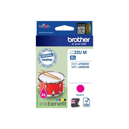 Cartouche d'encre LC22UBK Brother originale – magenta