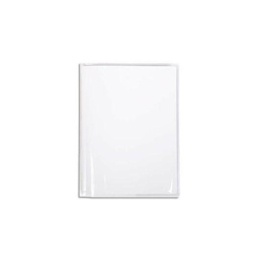 CALLIGRAPHE Protège-cahier Cristal 22/100° 17x22 avec porte-étiquette. Transparent