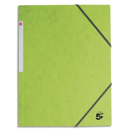 Chemise 3 rabats en carton 5/10e à élastique - Vert